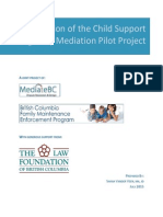 Child Support Eligibility Mediation Pilot Project Final Report & Evaluation