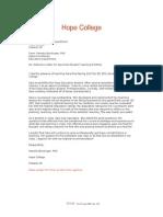 stockinger recommendation letter