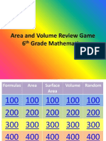 area and volume review game