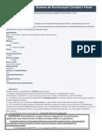 SEFII – Pernambuco - Sistema de Escrituração Contábil e Fiscal - SEFII