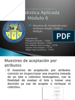 Tarea No. 14 Muestreo de Aceptacion Para Atributos Simple, Doble y Multimple - Rockets