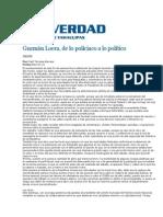 23-02-2014 La Verdad - Guzmán Loera, de lo policiaco a lo político