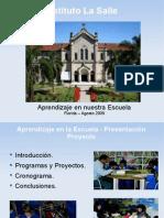 Presentación.Aprendizaje.20090828