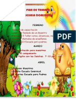 Plan de Trabajo Trimestre Esc. Dom.