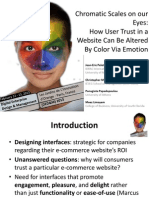 Web Design Chromatic Scales on Our Eyes