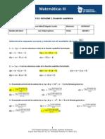 MIII – U1 – Actividad 1. Ecuación cuadrática