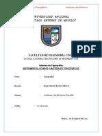 Practica i. Instrumentos y Aparatos Topograficos