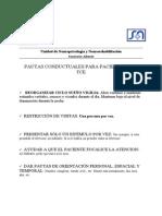 Pautas Conductuales Para Pacientes Con Tce