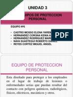 3.6 Equipo de Proteccion Personal