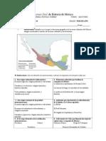 guía de examen. Historia de México
