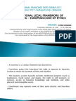 International Legal Framework of Franchising - European Code of Ethics SERBIA 2011