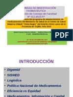 Eficiencia y Eficacia Del Programa de Abastecimiento De