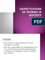 Expectations of women in society