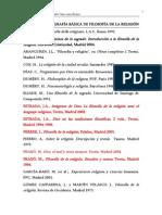 BIBLIOGRAFÍA BÁSICA DE FILOSOFÍA DE LA RELIGIÓN