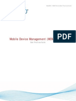Mobile Device Management (MDM) Policies