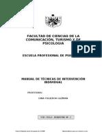 8º Tecnicas de Intervención individual