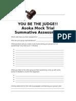 asoka mock trial