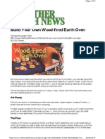 Build Your Own Wood Fired Earth Oven