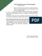 DESARROLLAR LA PRÁCTICA REFLEXIVA EN EL OFICIO DE ENSEÑAR Reporte