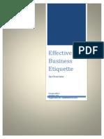 Effective Business Etiquette