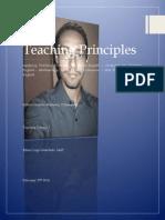 Teaching Principles Milton Martinez
