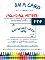 Design a Card...Calling All Artists