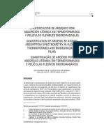 Cuantificacion de Arsenico