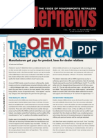 Dealer News OEM ReportCard