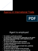 Agency in International Trade 1