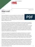 """What is Art?"" by Noah Dillon, Brooklyn Rail, September 2013"