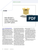 How eBuilder's Order Fulfillment  solution complements your ERP system