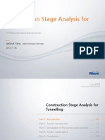 Construction Stage Analysis for Tunnelling