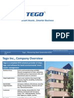 TEGO Offering Smart Asset Solutions