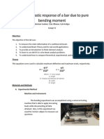 Bend Experiment Strength of Materials