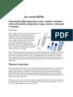 Thermocouple Vs. Resistance Temperature Detector (RTD)