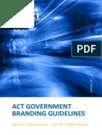 ACTGov BrandIng Guidelines