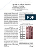 Assessing Uncertainty of Pushover Analysis to Geometric Modeling
