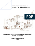 Phenomenology of Architecture