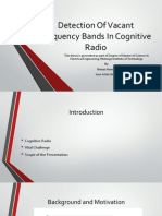 Detection of Vacant Frequency Bands in Cognitive Radio