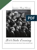 2014 SF Boys Chorus Gala Evening Program