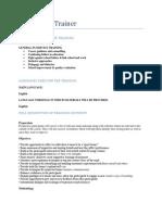 Courses Descriptions and Agendas
