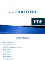 Paper Battery Ppt