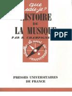 5329669 Histoire de La Musique Bernard Champigneule