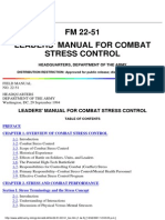 Usa Army Leaders Manual for Combat Stress Control