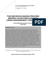 Decision-Making Process Behind Launching an ESDP Crisis Management-Operation