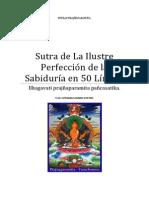 Sutra de La Ilustre Perfección de la Sabiduría en 50 Líneas