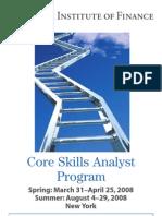 Core Skills Analysis Program 2008