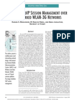 Designing Voip Session Management Over Interworked Wlan-3g Networks