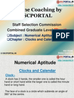 SSC CGL Numerical Aptitude Clocks and Calendar