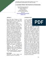 OPTIMUM COURSE ASSOCIATION METHOD WITH CLOUD SERVICE ORCHESTRATION